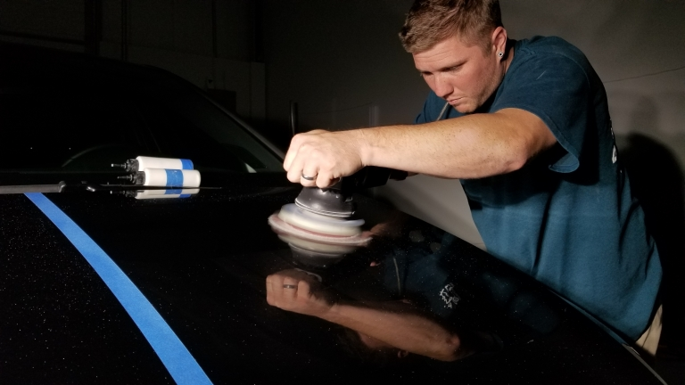 Using Meguiars compound to remove scratches from paint