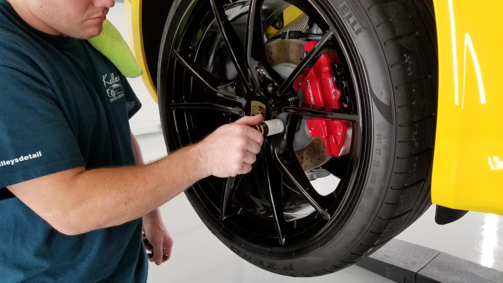 Reinstalling wheels on a Porsche Cayman S