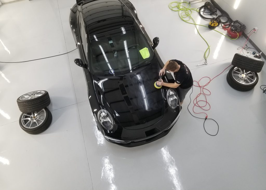 Aerial View of Polishing Carrera S