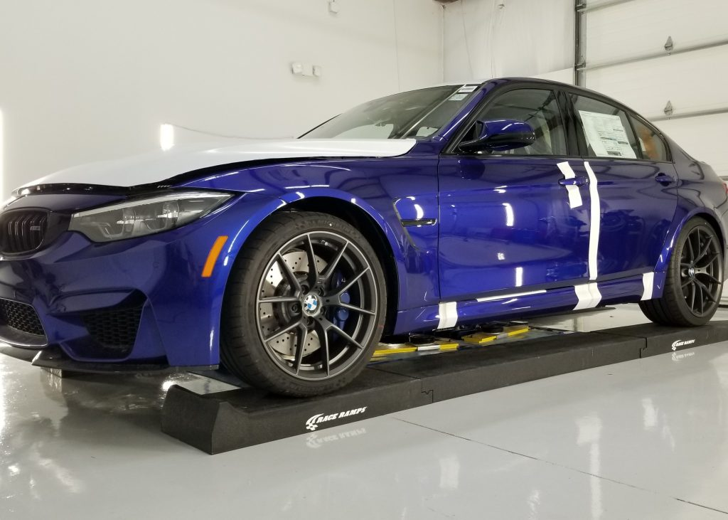 bmw m3 cs here for full front end ppf wrap
