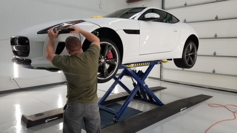 polishing jaguar f-type before ppf